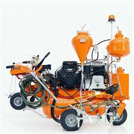 L 90 IETP Značkovací stroj se vzduchovým nástřikem a hydraulickým pohonem