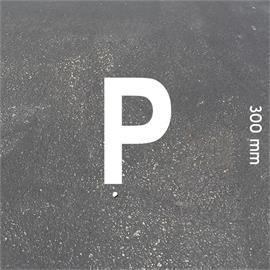 Písmena MeltMark - výška 300 mm bílá - Písmeno: P  Výška: 300 mm