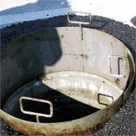 Bitumen-Einbauschalung aus Stahl