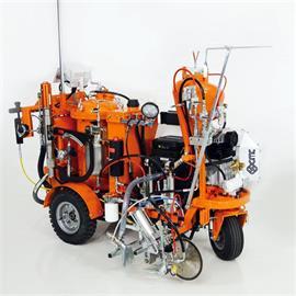 CMC AR100 98:2 - Airless Straßenmarkiermaschine mit 98:2 Spritzplastiksystem Innenmischung