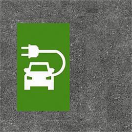 Elektronische Tankstelle/Ladestation grün/weiss 60 x 100 cm