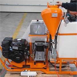 LKW- oder Pritschenaufbau für Flächenmarkierung