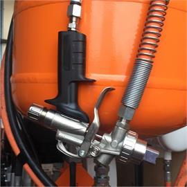 Manuelle Airspray-Pistole CMC Modell 5 mit Schläuchen