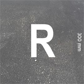 MeltMark Buchstaben - Höhe 300 mm weiß - Buchstabe: R  Höhe: 300 mm