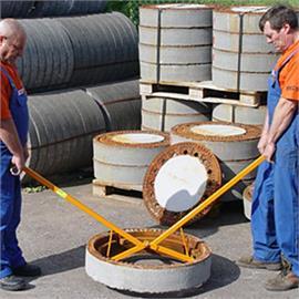Schachtrahmen-Innengreifer für das Heben von geöffneten Schachtrahmen Ø 600 mm