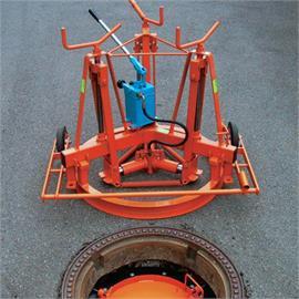 Schachtrahmenheber teilhydraulisch für Schächte mit Durchmesser ca. 625 mm