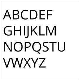 Set aus 26 Buchstaben (A - Z)