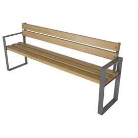 Sitzbank mit Holzelementen L05