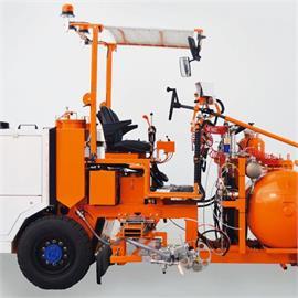 Thermoplastik Straßenmarkiermaschine/Aufsitzmaschine