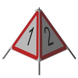Triopan Kombi (Seiten unterschiedlich bedruckt) Höhe: 110 cm - R2 Stark reflektierend