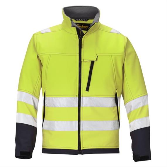 HV Softshell Jacket Cl. 3, gul, størrelse M Regular