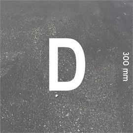 MeltMark bogstaver - højde 300 mm hvid - Bogstav: D  Højde: 300 mm