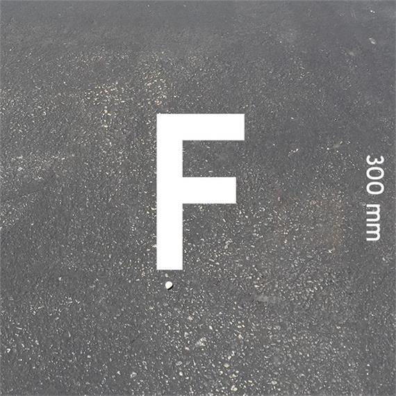 MeltMark bogstaver - højde 300 mm hvid - Bogstav: F  Højde: 300 mm