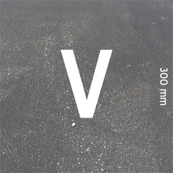 MeltMark bogstaver - højde 300 mm hvid - Bogstav: V  Højde: 300 mm