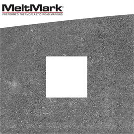 MeltMark firkantet hvid 50 x 50 cm