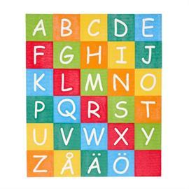 MeltMark legepladsmærkning - Alfabet fyrkantiga rutor A till Ö
