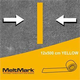 MeltMark-rulle gul 500 x 12 cm
