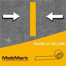 MeltMark-rulle gul 500 x 15 cm