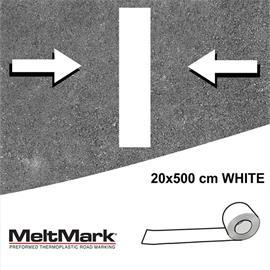 MeltMark-rulle hvid 500 x 20 cm