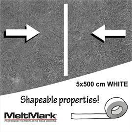 MeltMark-rulle hvid 500 x 5 cm