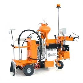 Airless road marking machines with hydraulic drive