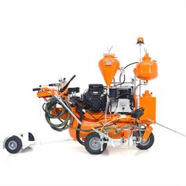 Airspray machines with hydraulic drive