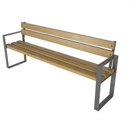Bench with wooden elements L05