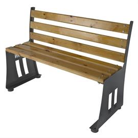 Bench with wooden elements L06