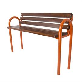 Bench with wooden elements L01