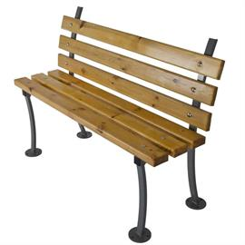 Bench with wooden elements L02