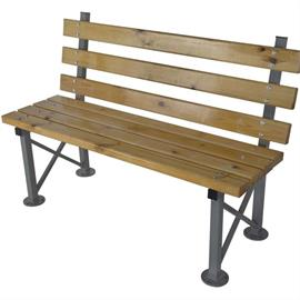 Bench with wooden elements L03