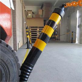Black flexible shut-off posts