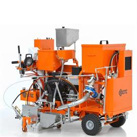 CMC 60 C-ST Cold-Plastic Road marking machine for flat markings, agglomerates and ribs