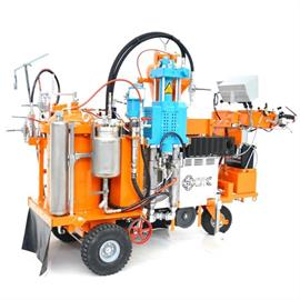 CMC AR 60 2C Airless road marking machine for Coldsprayplastic with internal mixing