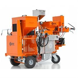 Cold plastic road marking machines with hydraulic