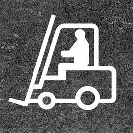 Forklift truck floor marking 800 x 900 mm