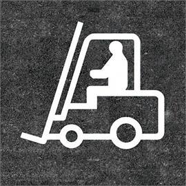 Forklift truck floor marking 1400 x 1580 mm