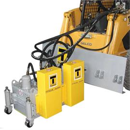 Hydraulic driven mountable mills