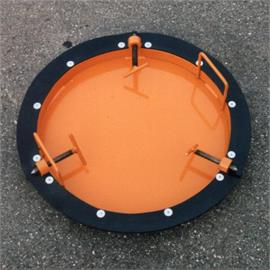 Locking plate for shafts with an internal diameter of approx. 800 mm.