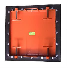 Locking plate square, for square shafts - 590 x 590 mm