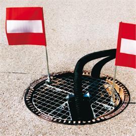Manhole cover gratings