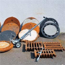 Manhole cover lifting equipment Manhole accessorie