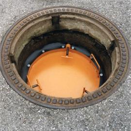 Manhole shut-off plates