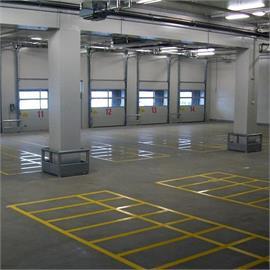 Marking machines Storage and parking areas