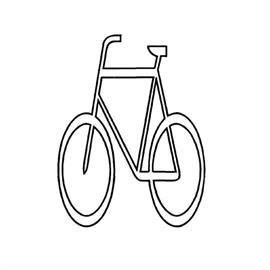 MeltMark cyclist 100 x 130 cm