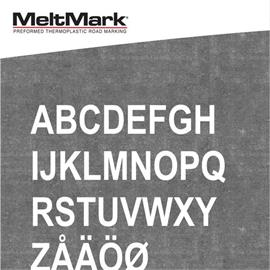 MeltMark letters - height 1.000 mm white