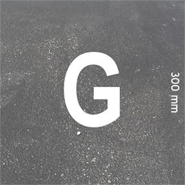 MeltMark letters - height 300 mm white - Letter: G  height: 300 mm