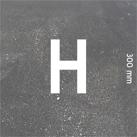 MeltMark letters - height 300 mm white - Letter: H  height: 300 mm