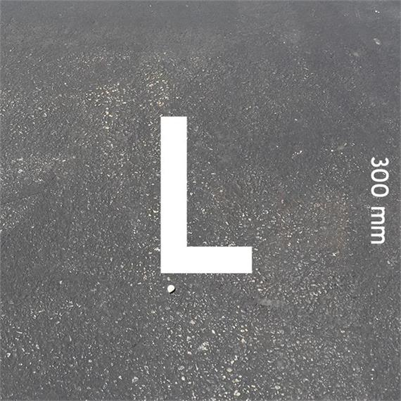 MeltMark letters - height 300 mm white - Letter: L  height: 300 mm