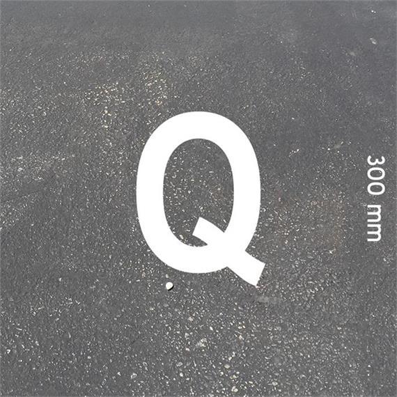 MeltMark letters - height 300 mm white - Letter: Q  height: 300 mm